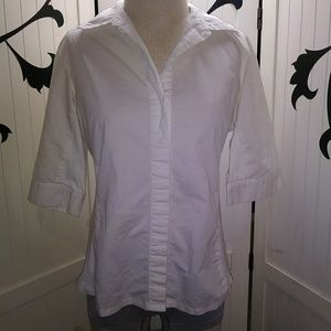 Zac & Rachel white button down collared blouse